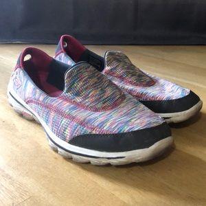 Skechers go walk 2 space dye shoes, size 10